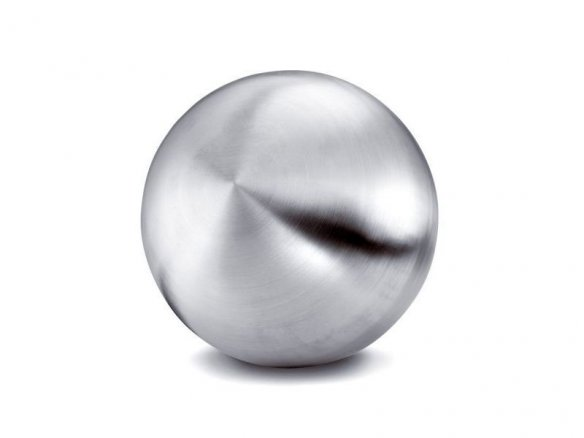 Stainless steel ball, matte, hollow