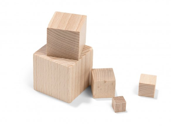 Beechwood cube, raw