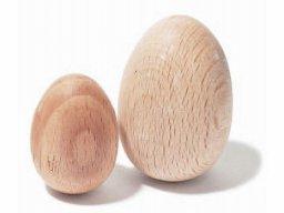 Uovo in legno di faggio, grezzo