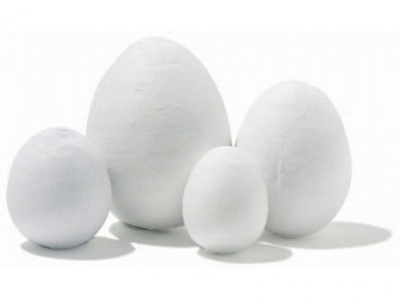 Cotton egg, white