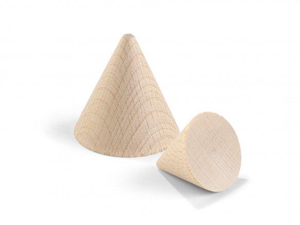 Cono in legno di faggio