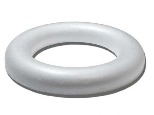 Polystyrene foam ring, flat