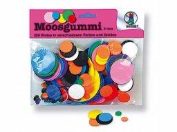 Moosgummi Scheiben, rund, farbig