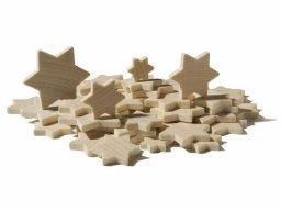 Estrellas de madera de haya