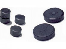 Round magnets, hard ferrite, black