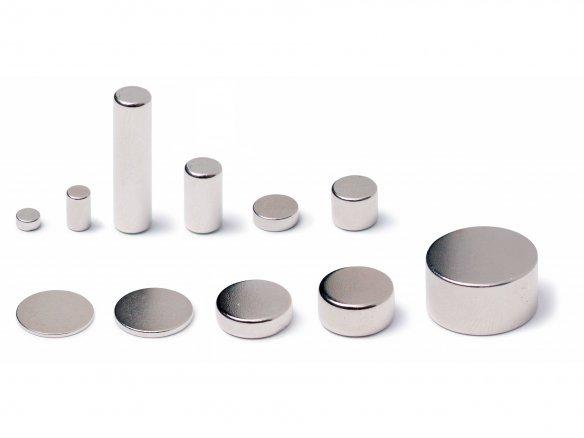 Round magnets, neodymium, silver