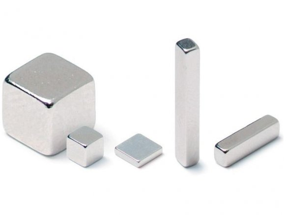 Rectangular magnets, neodymium, silver
