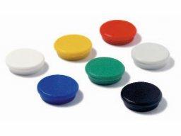 Round magnet with plastic cap