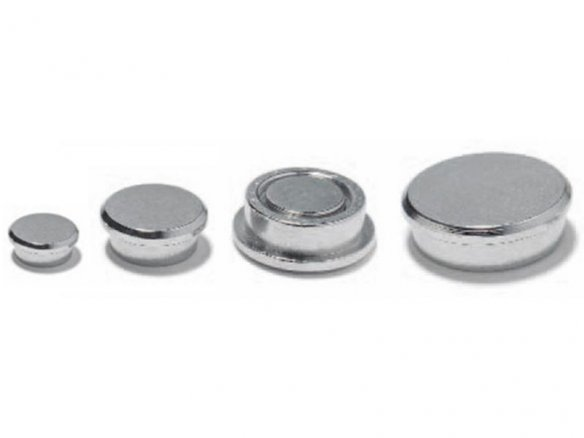 Round magnet, neodymium with steel cap