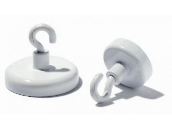 Deco-magnets with hook, white