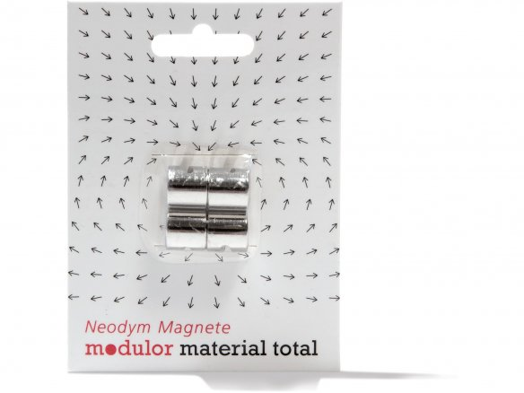 Deco-magnets with notch, neodymium, silver