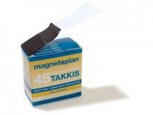 Segmentos de cinta magnética Takkis, autoadhesivos