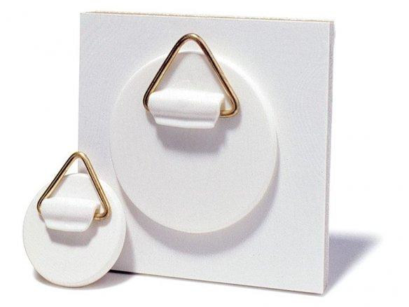 Plastic hangers, self-adhesive, round