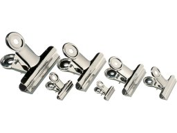 Letter clips, nickel-plated, round grip
