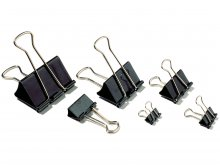 Molle fermacarte doppia clip Foldback, nere