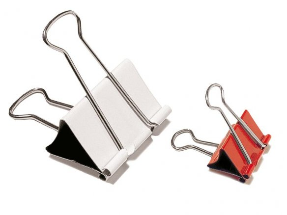 Foldback clips, coloured