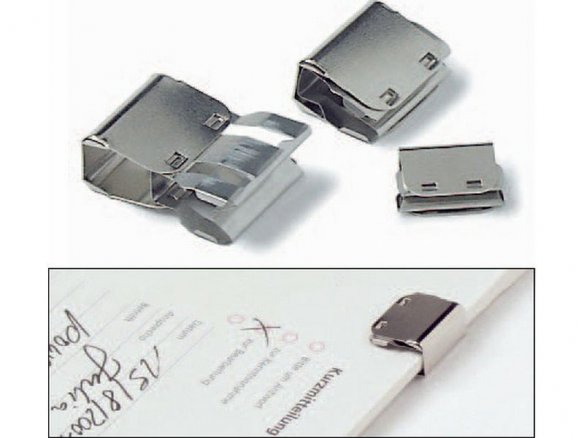 Slide clip, nickel-plated