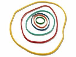 Elastici ad anello, colori e misure assortiti