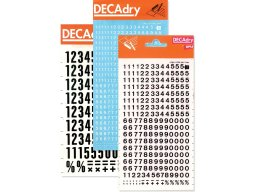 Decadry Transfer rub-on numbers