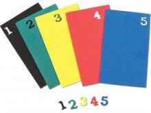 Moosgummi Zahlen, farbig