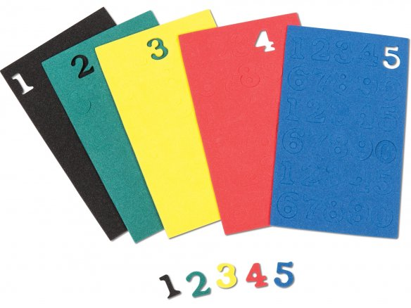 Foam rubber numbers, coloured