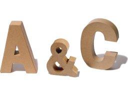 Pappmaché Buchstaben, braun