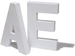 Chipboard letters, white