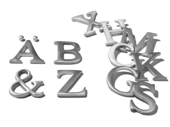 Lettere in alluminio