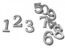 Números de aluminio