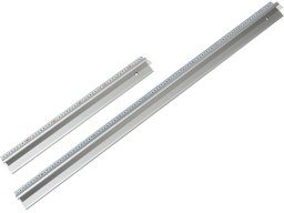 Aluminium safety cutting ruler with steel edge