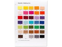 Bastel- und Dekofilz, farbig, Farbkarte