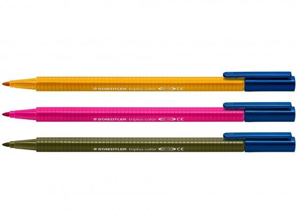 Pennarello punta fibra Staedler, Triplus color