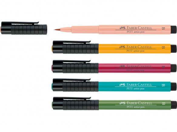 Faber-Castell Pitt artist pen, brush, coloured