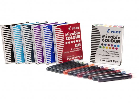 Pilot Parallel Pen mixable colour ink cartridges