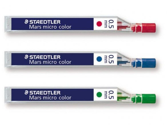 Staedtler mechanical pencil lead Mars micro color