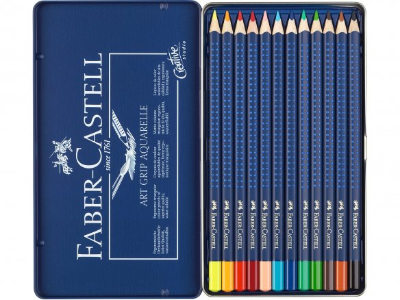 Lápiz acuarelable de color Faber-Castell Art Grip