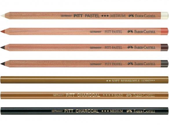 Lápices para dibujar Faber-Castell Pitt Monochrome