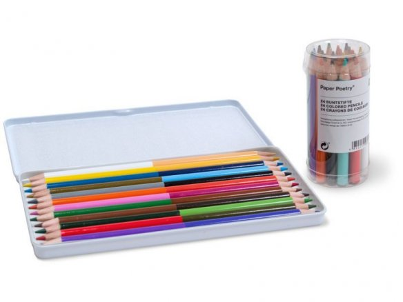 Paper Poetry coloured pencils