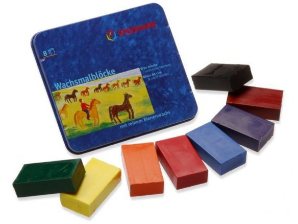 Stockmar wax colouring blocks