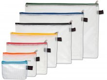 Handy zippered pouch, transparent