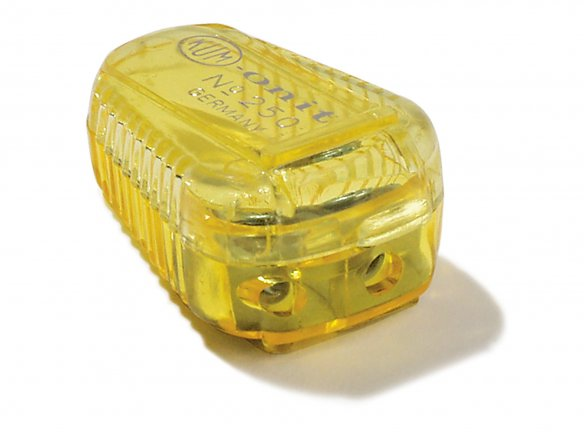 Double lead sharpener box, coloured