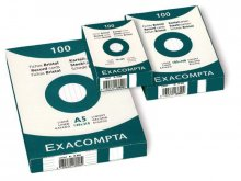 Exacompta file cards, ruled