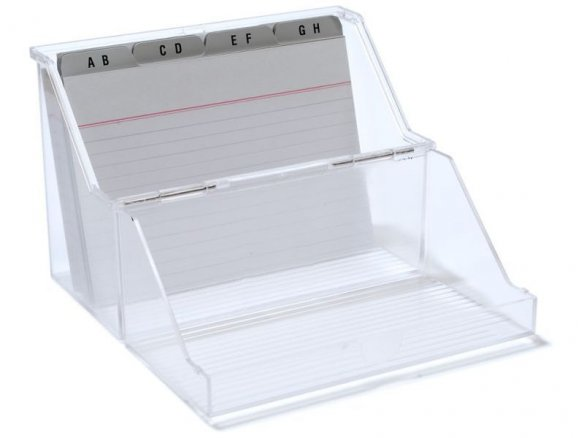 Card file box, plastic