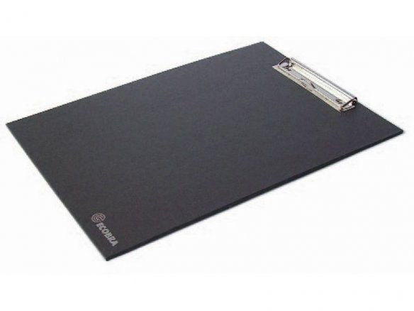 Clipboard, cardboard, laminated, black