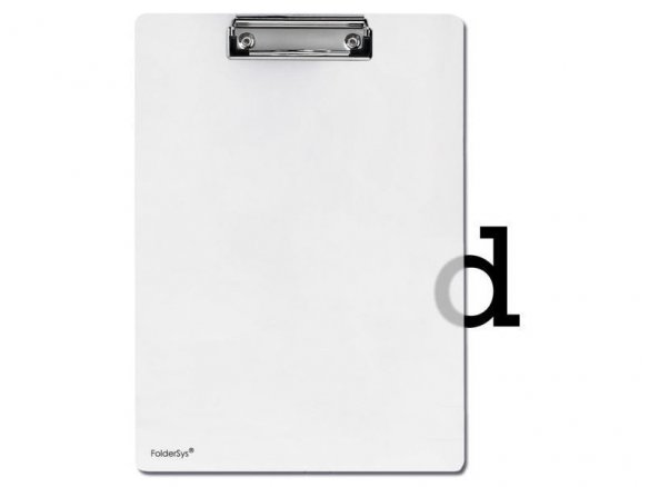 Clipboard, polypropylene, translucent