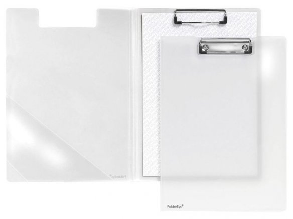 Clipboard folder, polypropylene, translucent