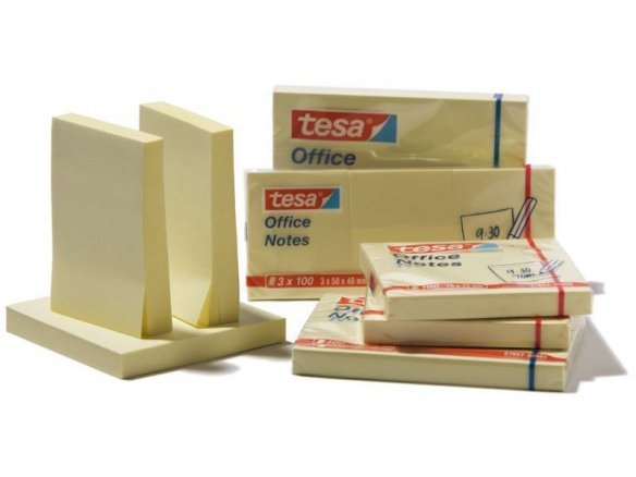 Tesa office notes, yellow