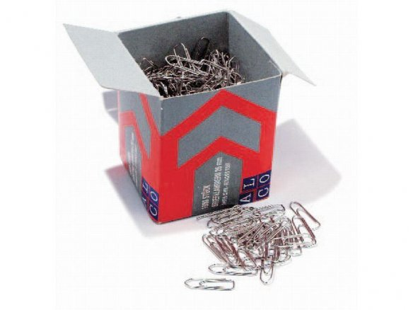 Paperclips standard, silver