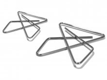 Butterfly clamps, nickel-plated