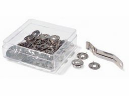 Three-prong pins, silver